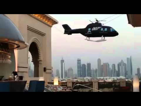 Inflatable helicopter for James Bond Event 2015 at Four Seasons Resort Jumeirah