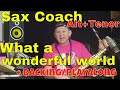"Sax Lesson  ""What a wonderful world"" (Louis Armstrong) AnleItung Noten Backing Track Sax Coach Lamml"