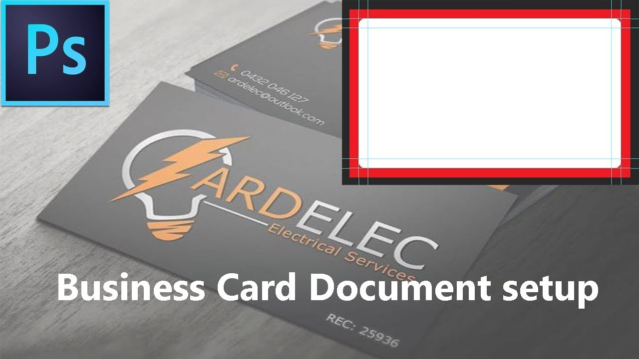Business card document setup tutorial business card design in business card document setup tutorial business card design in photoshop tutorial magicingreecefo Images