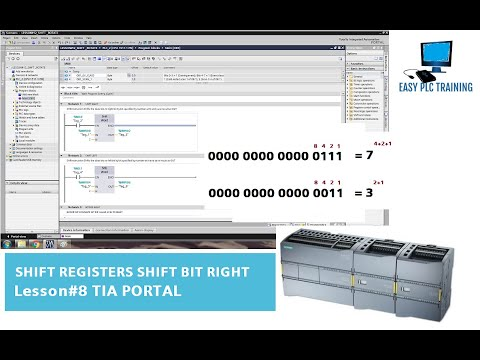 Lesson#8 Shift Registers Shift Bit Right TIA Portal_Part 1