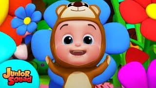 пять маленьких младенцев | потешки | Стихи для детей | Junior Squad Russia | развивающий мультфильм