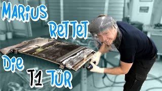 Marius rettet eine durchgerostete VW T1 Tür! Bulli Restauration Teil 4 | Philipp Kaess |