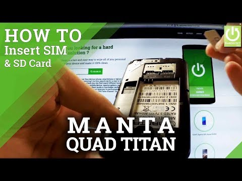 Insert SIM & SD Card in MANTA MSP5008 Quad Titan - SIM Tutorial