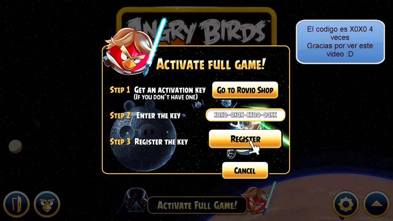 Angry Birds Star Wars Patch - Activation Code