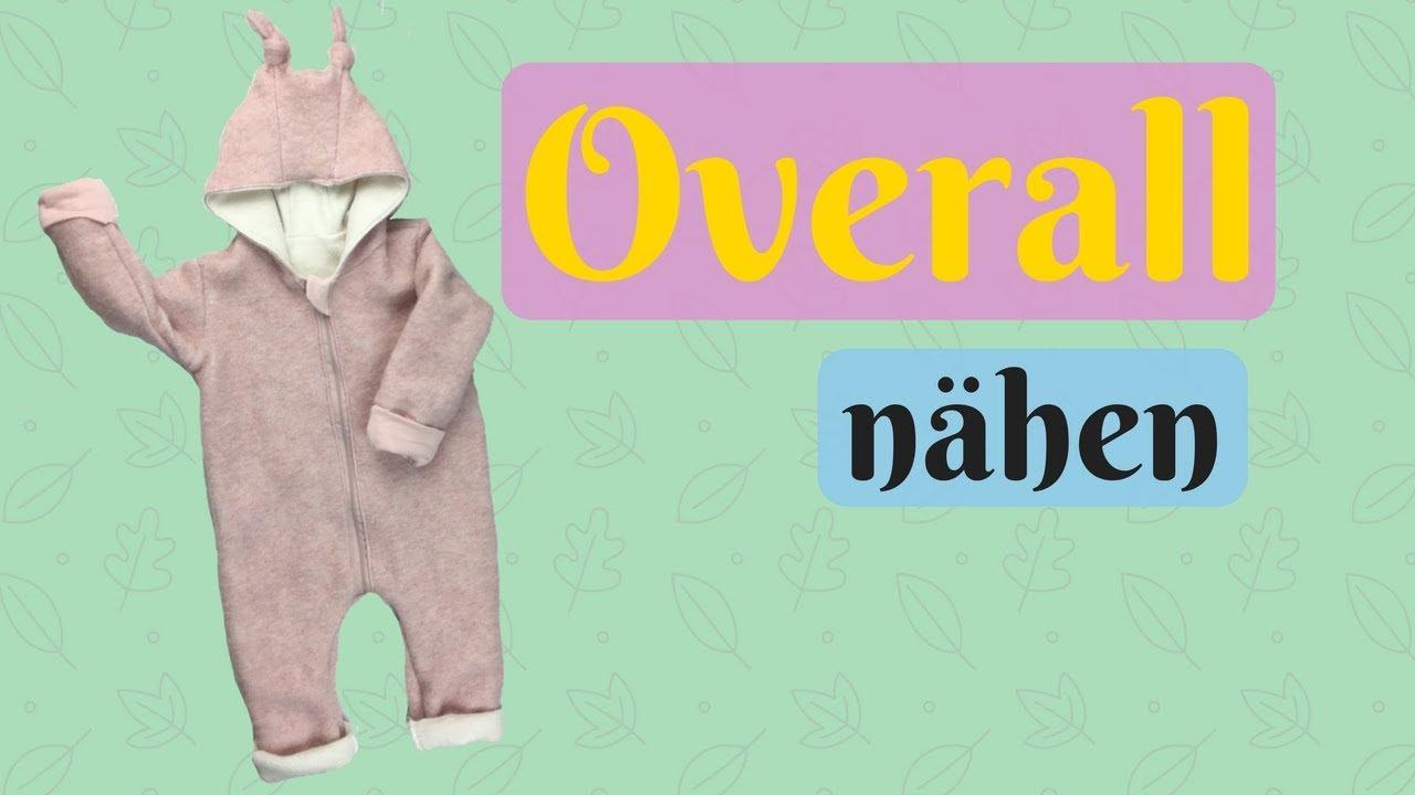 Winter Overall/Teddyanzug fürs Baby nähen-Videoanleitung für ...