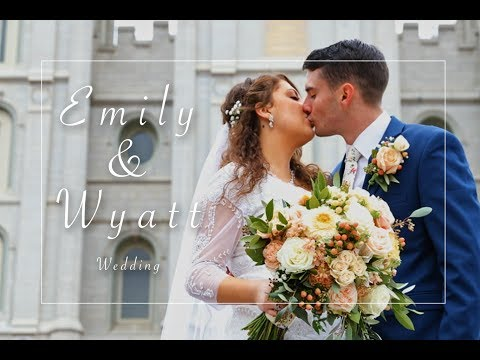 Salt Lake Temple Wedding | LDS Wedding 4K | Emily & Wyatt