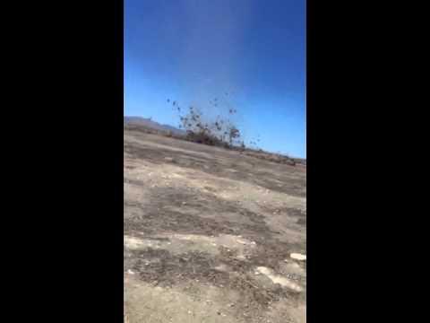 Crazy Tumbleweed Dust Devil!!!