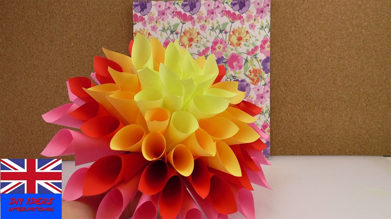 MAKE A BIG PAPER FLOWER! Decoration idea beautiful and easy to ...