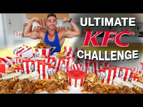 The Ultimate KFC Food Challenge | $450 EPIC CHEAT DAY