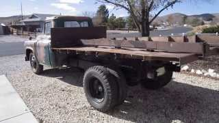 1957 Chevy 4400 Dump Truck starting procedure - running - ready to transport to England