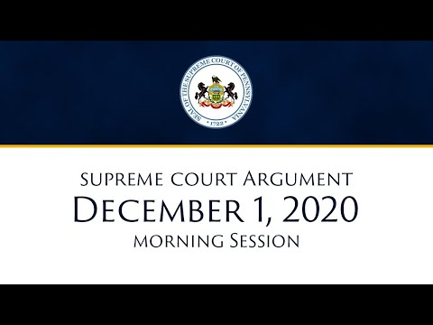 December 01, 2020 Supreme Court Morning Session THE WILLIAM/BILL COSBY CASE