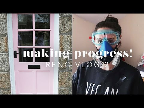 NEW PINK FRONT DOOR, WINDOWS & FENCE! RENO VLOG 2
