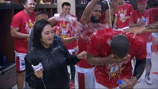 Barangay Ginebra Dugout Celebration | PBA Governors' Cup 2019 Finals
