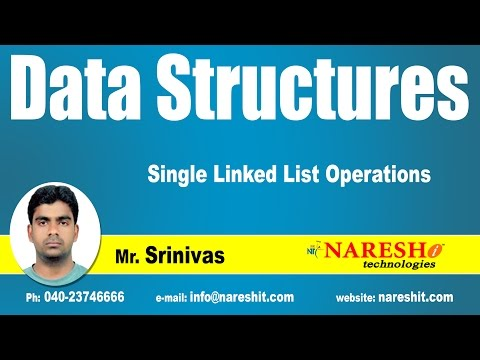 Single Linked List Operations | Data Structures Tutorial