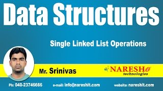 Single Linked List Operations | Data Structures Tutorial | Mr. Srinivas
