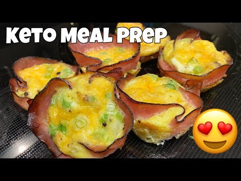 Ham & Cheese Egg Cups | Quick & Easy Keto Meal Prep