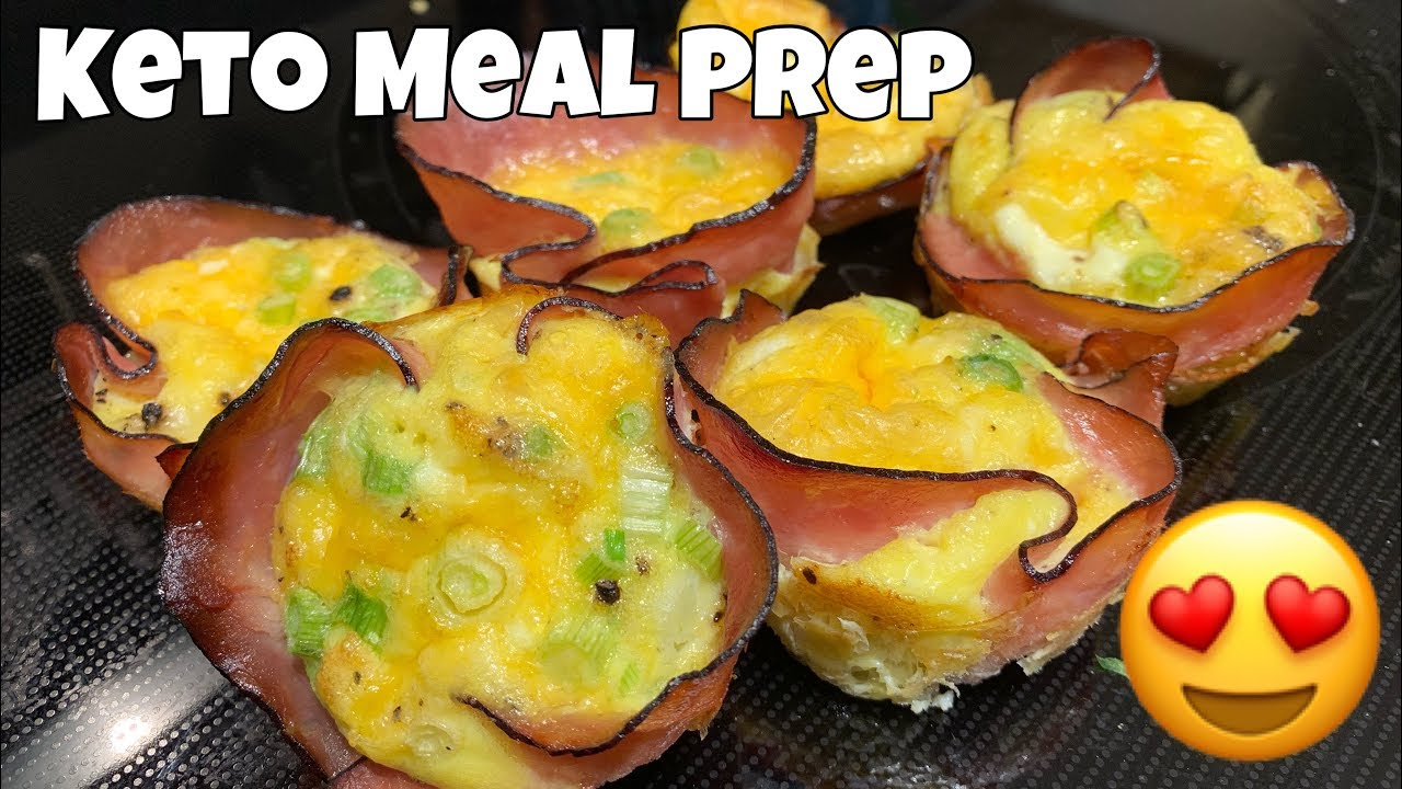 Ham Amp Cheese Egg Cups Quick Amp Easy Keto Meal Prep Youtube