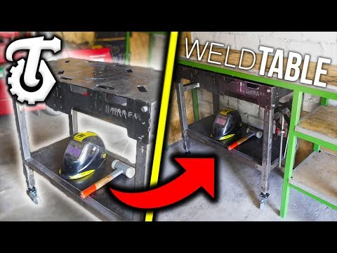 How To Build a Workshop Table and welding Table * DIY *