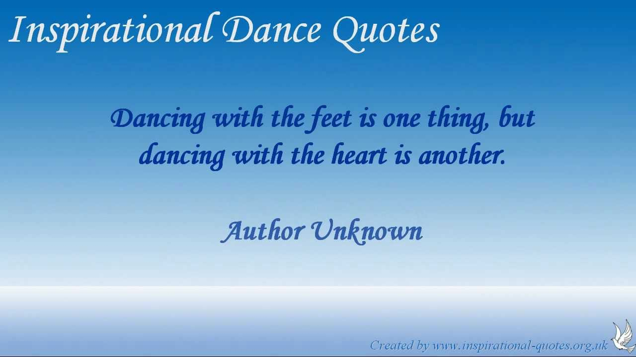 inspirational dance quotes youtube