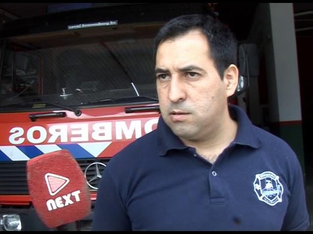 Incendio en un campo y en una casa de Carlos Paz