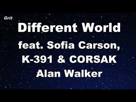 Different World Feat. Sofia Carson, K-391 & CORSAK - Alan Walker Karaoke 【With Guide Melody】