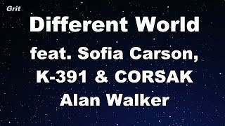Different World feat. Sofia Carson, K-391 & CORSAK - Alan Walker Karaoke 【With Guide Melody】