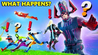 What Happens if Boss Galactus Meets ALL MARVEL BOSSES in Fortnite Live Event (Ironman,Wolverine etc)