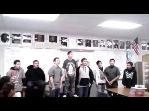 2012 El Monte Middle School 8th Grade Oh Slavery Chants