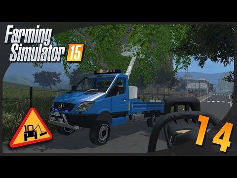 Farming Simulator 15 | Entretien Communal #14 Elagage + Sprinter nacelle