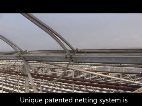 Organic Greenhouse Grower Insect venting Netting System