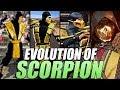 Evolution of Scorpion from Mortal Kombat 1992-2019