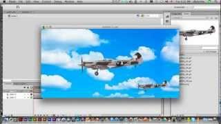 Flash CS6: Animate Background to Simulate Movement Tutorial