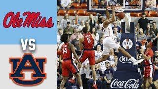 Ole Miss vs #15 Auburn Highlights 2020 College Basketball