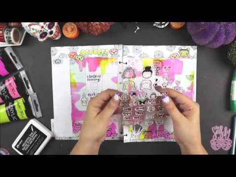 Plan with me | Halloween Edition | Stamping & Watercolors| Happy planner