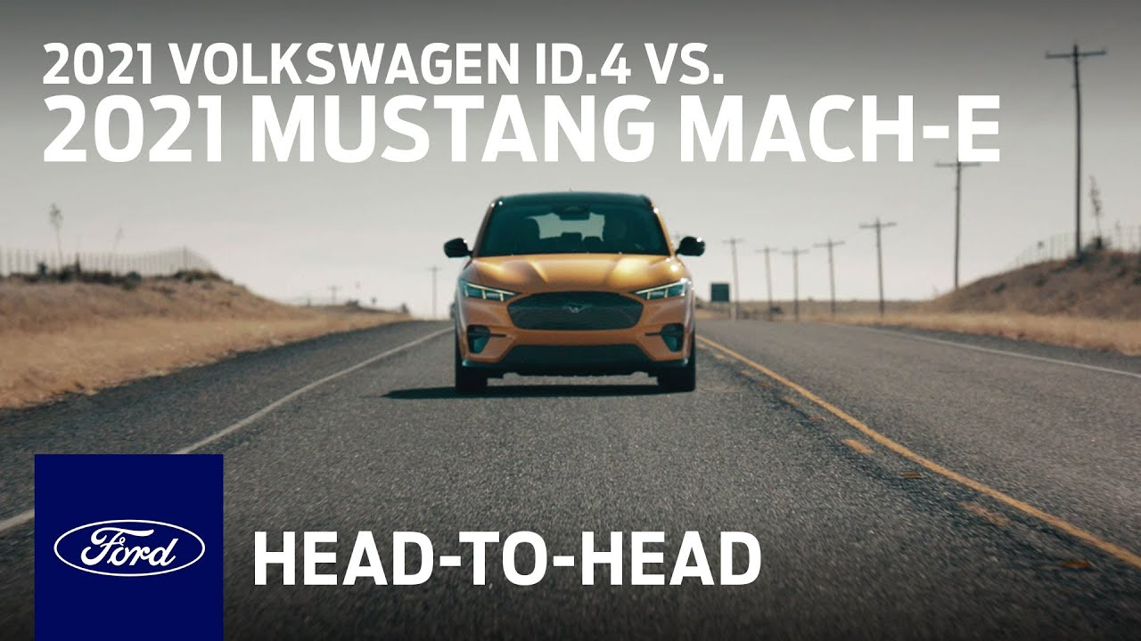 Compare the 2021 Volkswagen ID.4 With the 2021 Ford Mustang Mach-E | Head to Head | Ford :30
