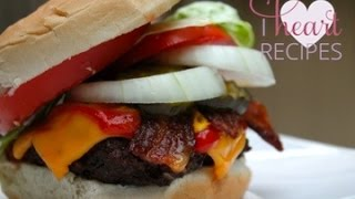 Barbecue Bacon Cheeseburgers - I Heart Recipes