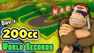200cc World Records for All 32 Tracks in Mario Kart Wii [Day 1]