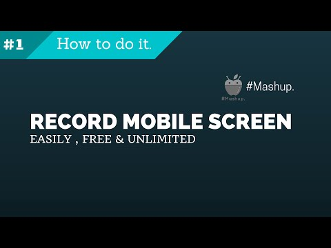 Record mobile screen easily, free and unlimited without PC.