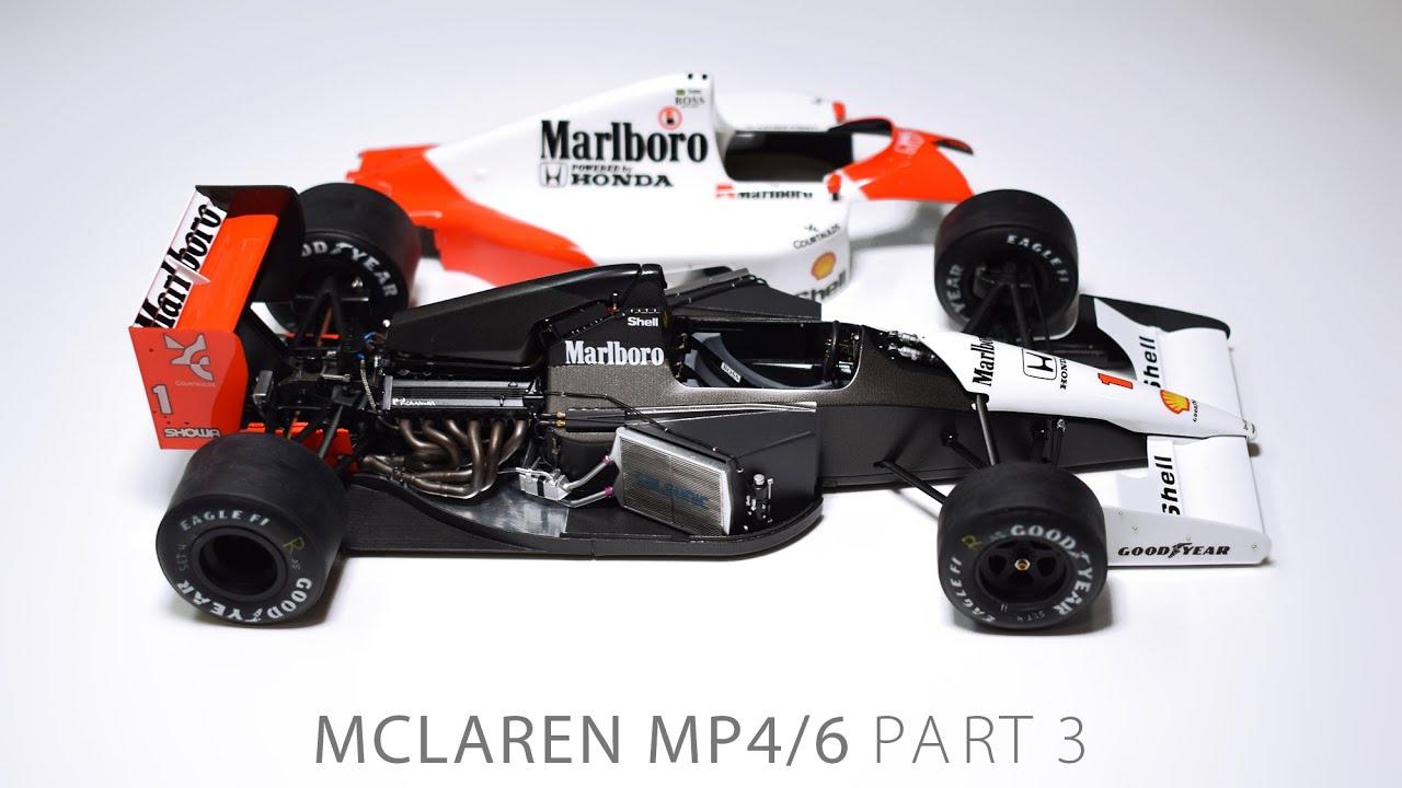 Building Senna's MP4/6 PART 3 McLaren Fujimi 1/20 F1 Scale Model