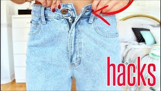 Today i am sharing jean hacks every girl must know!! diy transform your old clothes, jeans !! lets be friends ♥ instagram: @nicolettaxoyt https://www.i...