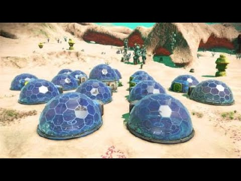 No Man's Sky - Agriculture colony on a Dune-like planet! Bluebaron15's Center of Excellence