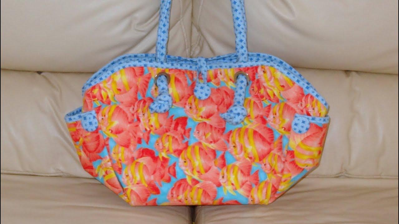 Bolsa De Praia Em Tecido Passo A Passo : Bolsa de tecido dos peixes diy big fabric bag make a