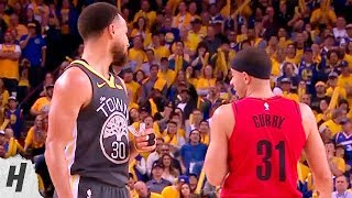 Stephen Curry & Seth Curry Shares Some Words At The Free Throw Line