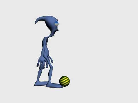 Character kicking a ball - Ferris / KC-TC