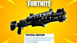 "Fortnite New Legendary ""Tactical Shotgun"" Update Gameplay! (Fortnite New Update)"