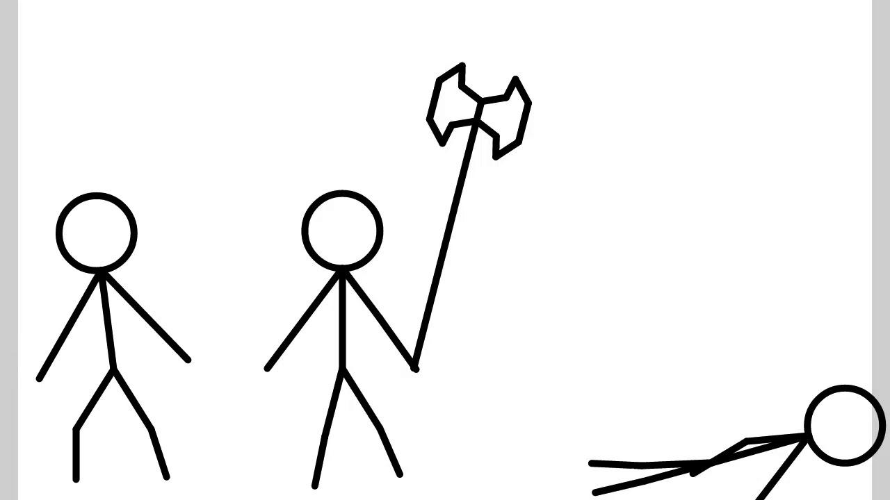 Stick man waving gifs
