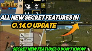 All new Secret features in Pubg Mobile Lite 0.14.0 official update