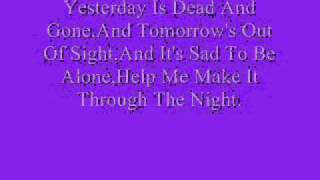 Sammi Smith-Help Me Make It Through The Night (Lyrics)