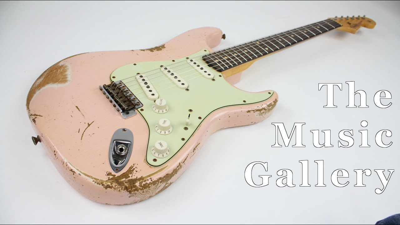 fender custom shop 1960 stratocaster relic shell pink the music gallery youtube. Black Bedroom Furniture Sets. Home Design Ideas
