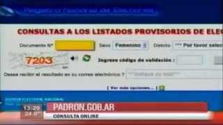 Padrón electoral 2013 - Dónde votar [Elecciones Primarias P.A.S.O 2013 Argentina]